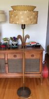 Mid-century Floor Lamp with Two-Tiered Shade
