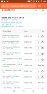 Boots and Hearts tickets at Tier ONE pricing !!!!