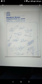 Old football autographed teams