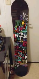 Womens ladies k2 snowboard size 142