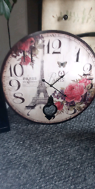 Large wall clock for sale today.