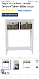 2 Drawer wicker Basket storage only £45. Grey or white colours. Real B