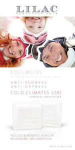 Special soap for protecting skin in cold weather and ski