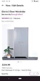 NEW IN BOX - Gloria Grey Locker Wardrobe