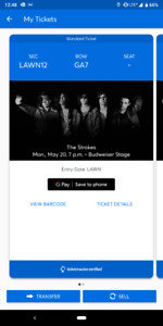The Strokes!! May 20th at Budweiser Stage. 2 lawn seats for $160