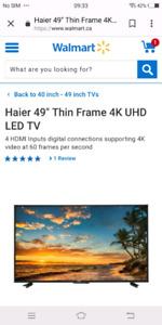 """Haier 49"""" Thin Frame 4K UHD LED TV"""