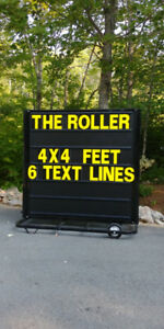 """The Roller""  Portable Sign with Wheels"
