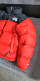 North Face puffer red new