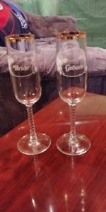 Bride/Groom champagne flutes