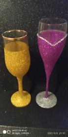 Glittered glasses
