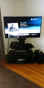 Tv mount glass tv stand