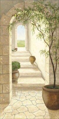 Poster oder Leinwand Bild A. Heins Architektur Fenster Türen Malerei Creme B8ZP