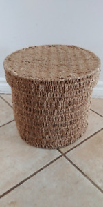 ROUND DEEP REED STORAGE CONTAINER - CUTE