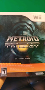 Metroid Prime Trilogy Collector's Edition Steel book for Wii