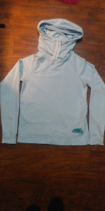 $10$ ROOTS Cowl-Neck Sweater With Hood Blue(SizeM)