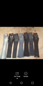 Assorted brand name womens jeans