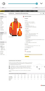Brand new Ago insulated safety jacket