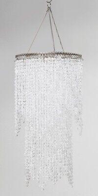 Hängeleuchte Lampenschirm Beads Clear Strass Deko Hängelampe Lampe Leuchte