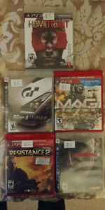 PS3 video games ($5 each or $20 for all 5)