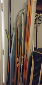 Skis for sale also ski poles