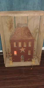 Primitive wall/floor decor, lights up!
