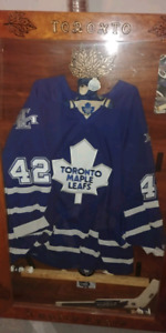 Toronto Maple Leafs Jersey and Hand made frame