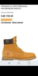 timberland winter boots size 6