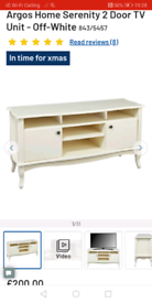 Serenity 2 door TV unit only £125. Real Bargains Clearance Outlet Lei
