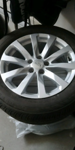 Mags Cadillac 5x115 with 235-55-17 summer tires