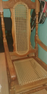 Hand made wood chairs 2 for adults and 1 for a child