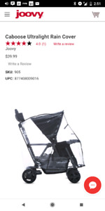 BRAND NEW Joovy Rain Cover for Stroller