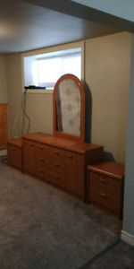 Dresser w/mirror and two night stands