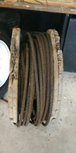 "Approx. 65' of 1/2"" steel cable"