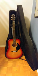 Intex accoustic low priced guitar and accessories for begginers