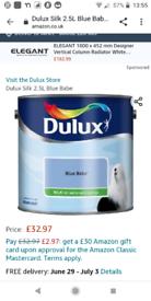 New silk dulux paint four tins
