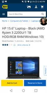 Hp touch screen laptop not even a year old