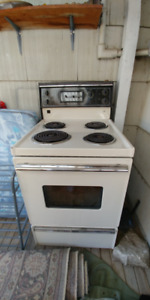 Apartment size stove working order, also matching fridge