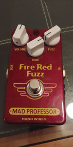 MAD PROFESSOR FIRE RED FUZZ *HAND WIRED* New/Neuve!!