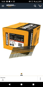 BOSTITCH 3-1/4-Inch Degree Plastic Collated Framing Nail