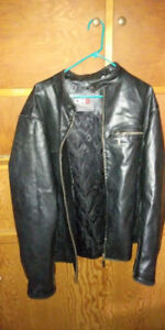 LEATHER MOTORCYCLE DH3 JACKET ~ SIZE 2XL
