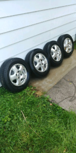 "13"" tires and rims. Excellent condition. From honda accord."