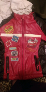 Toddler cars leather jacket