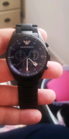 Emporio Armani Black watch ( genuine )