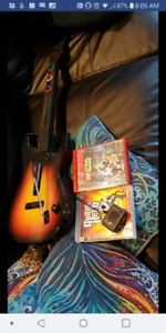 Guitar hero ps3 with guitar and plug