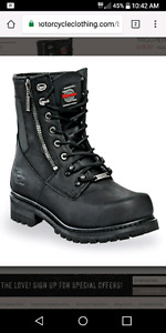Sz 13 Milwaukee 'trooper' leather boots