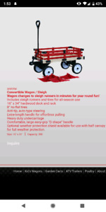 Brand new/never used Millside Express Convertible Wagon/sled
