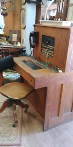 1920s switchboard and chair