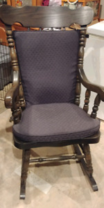 Extra large solid wood rocking chair