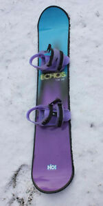 ECHOS130SE H2O! Snowboard with Attached Binding/ Let It Snow!