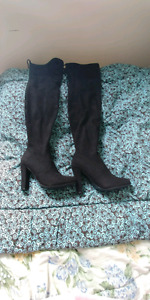 High knee suade boots